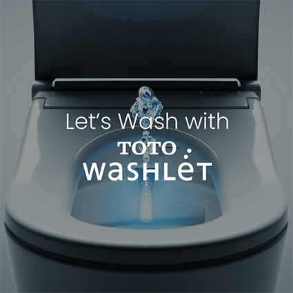 lets wash with TOTO washilet