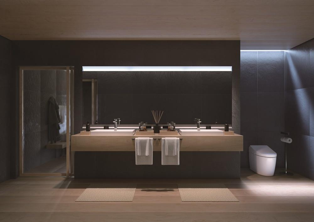 ห้องน้ำแบบเรียบง่าย น้อยแต่มาก