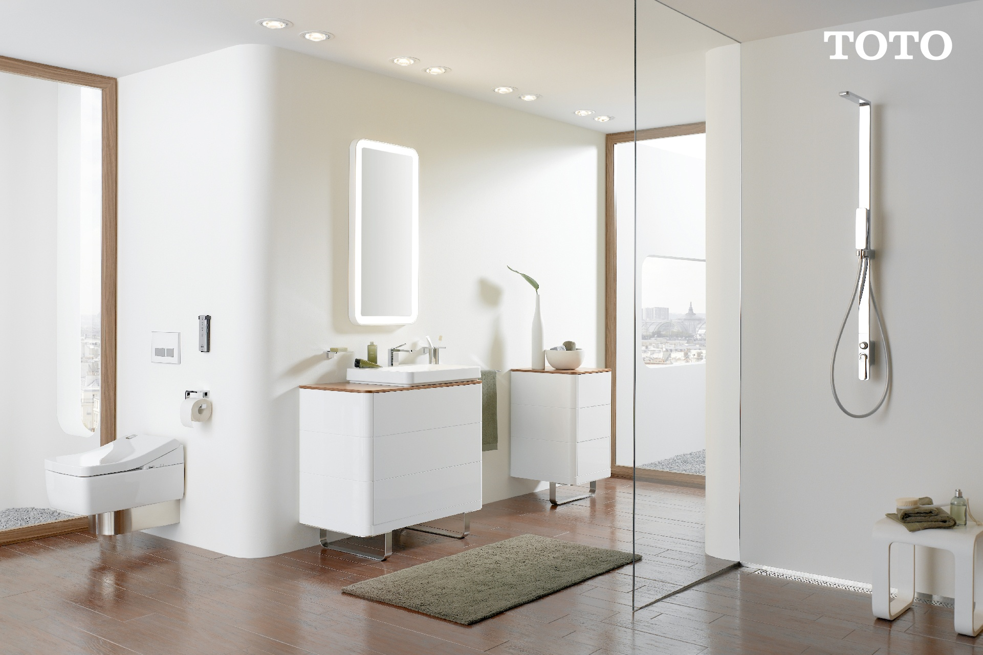 เน้นการตกแต่งห้องน้ำด้วยโทนสว่าง