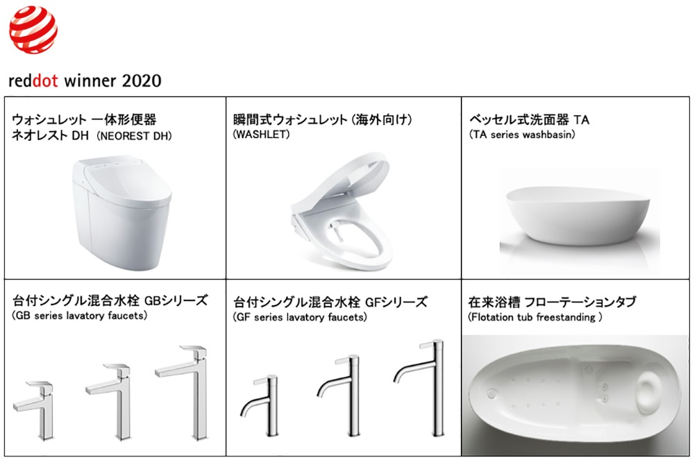 TOTO wins Red Dot Design Award 2020 1