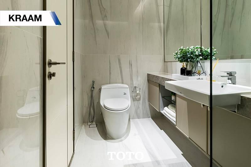 ขอขอบคุณรูปภาพห้องน้ำจาก โครงการ KRAAM Sukhumvit 26