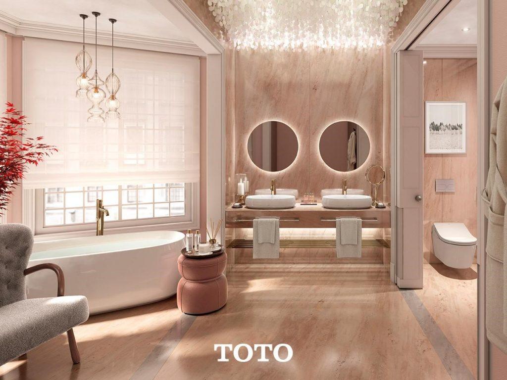 ภาพ: การเลือกสีของห้องน้ำเป็นสีโทนสว่าง