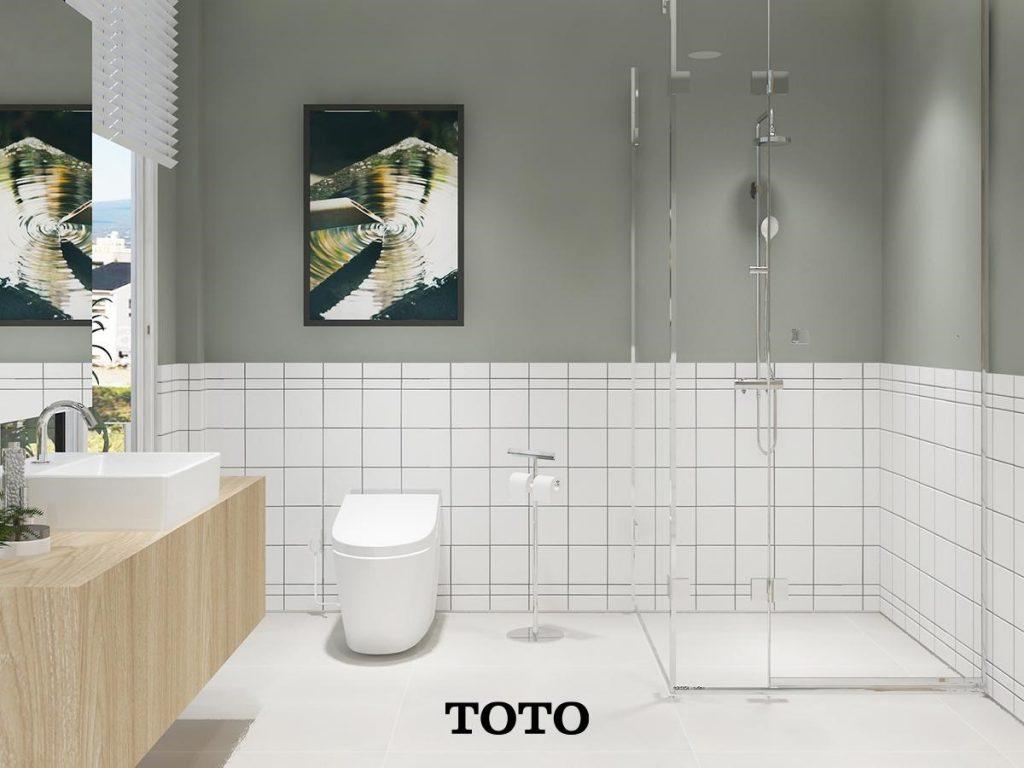 ภาพ: ห้องน้ำที่แบ่งโซนเปียกและแห้ง