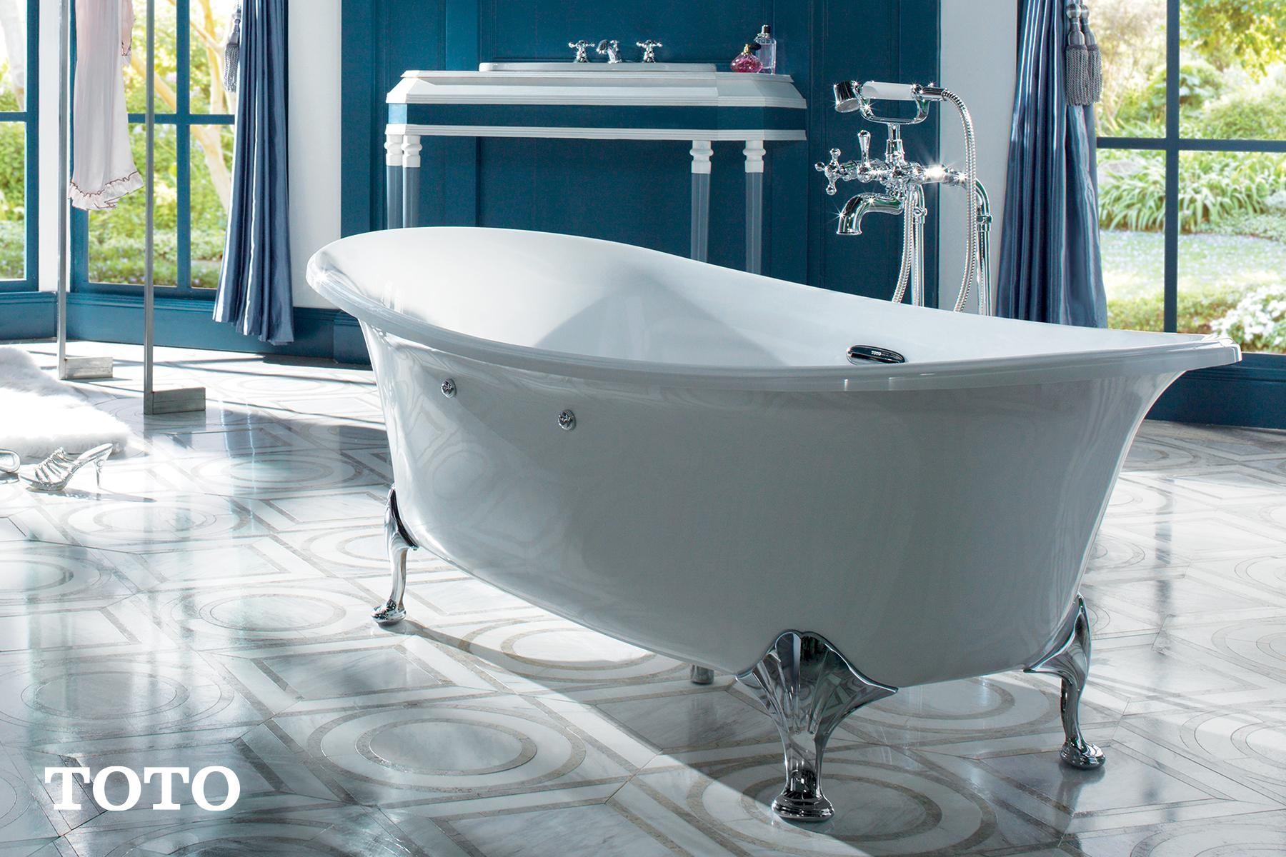 ภาพ: อ่างอาบน้ำแบบตั้งพื้น